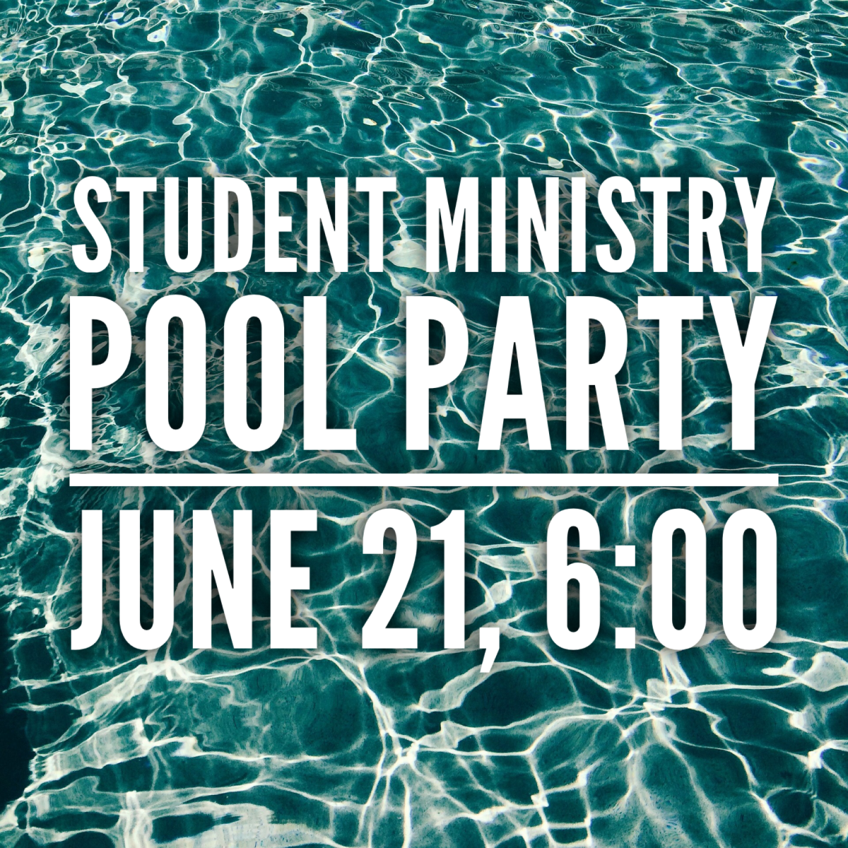 Student Ministry Pool Party